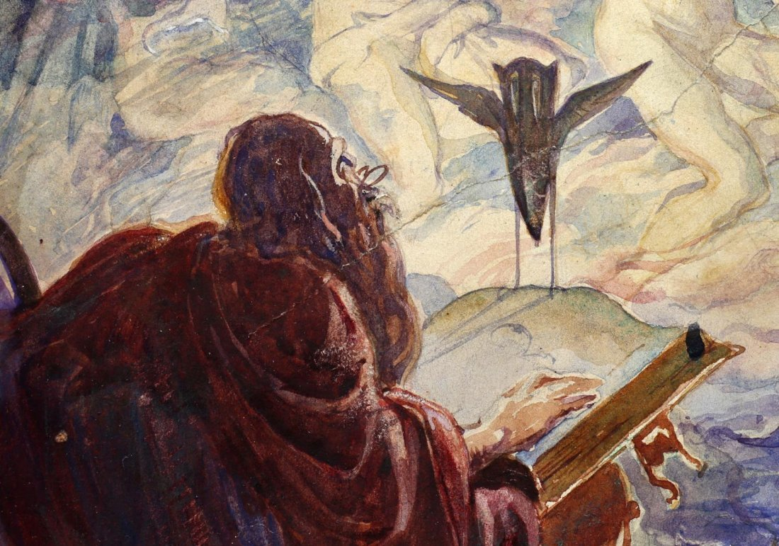 ALAN ODLE (1888-1948) ATTRIB., WATERCOLOR - 4