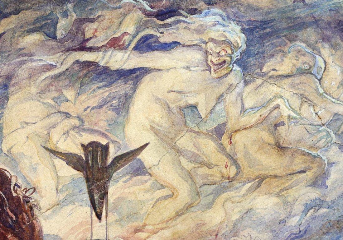 ALAN ODLE (1888-1948) ATTRIB., WATERCOLOR - 5