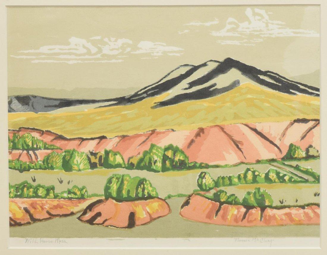 FLORENCE McCLUNG (TEXAS, 1894-1992) LITHOGRAPH