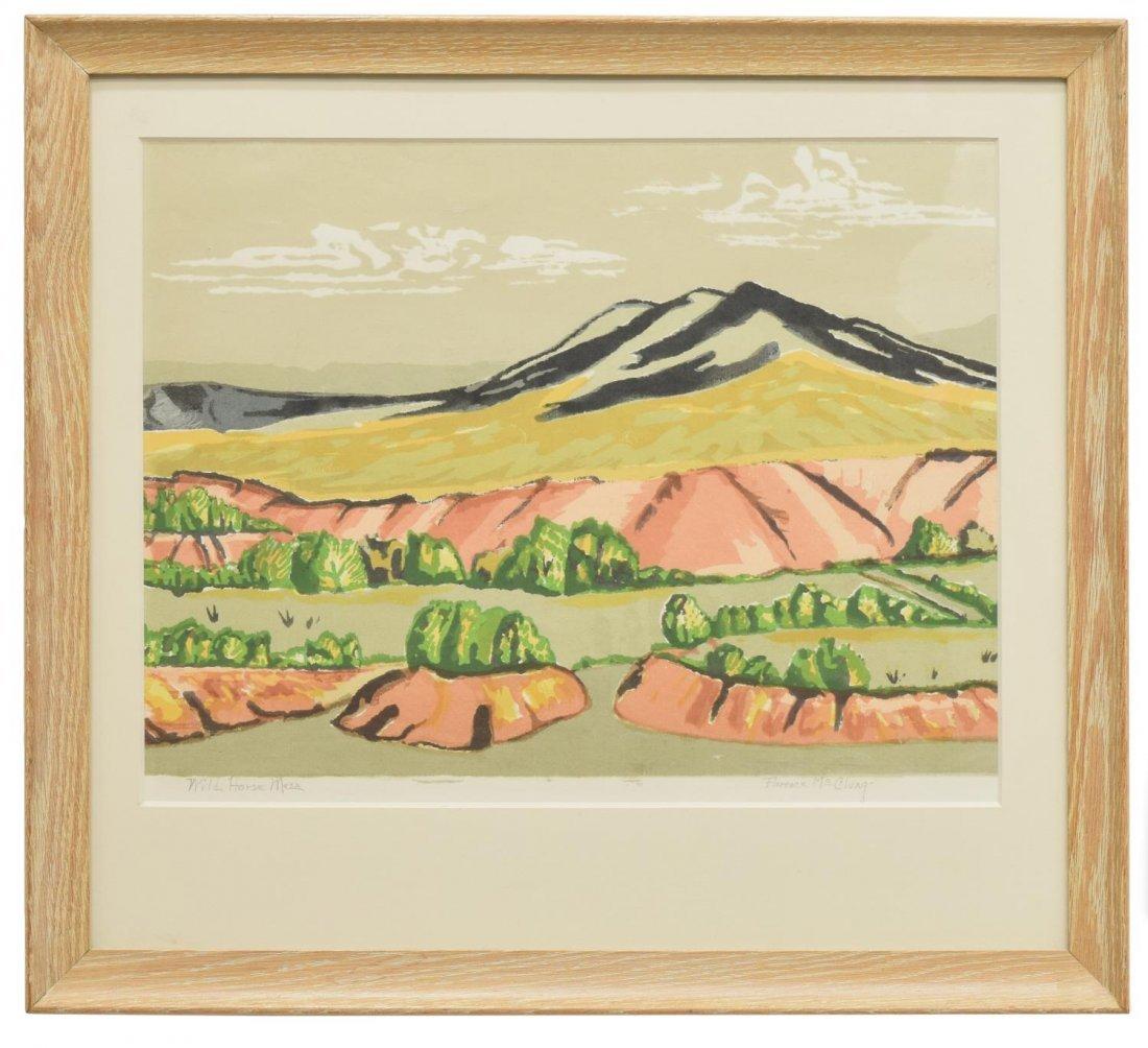 FLORENCE McCLUNG (TEXAS, 1894-1992) LITHOGRAPH - 2