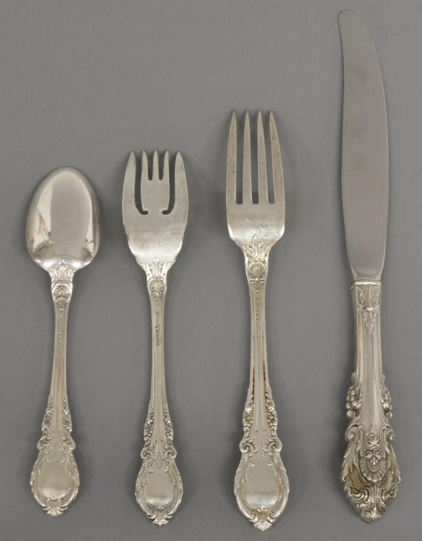 (40) SIR CHRISTOPHER STERLING FLATWARE BY WALLACE - 3
