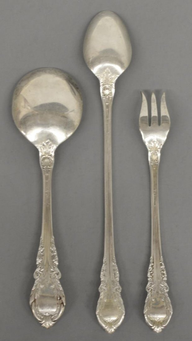 (40) SIR CHRISTOPHER STERLING FLATWARE BY WALLACE - 5