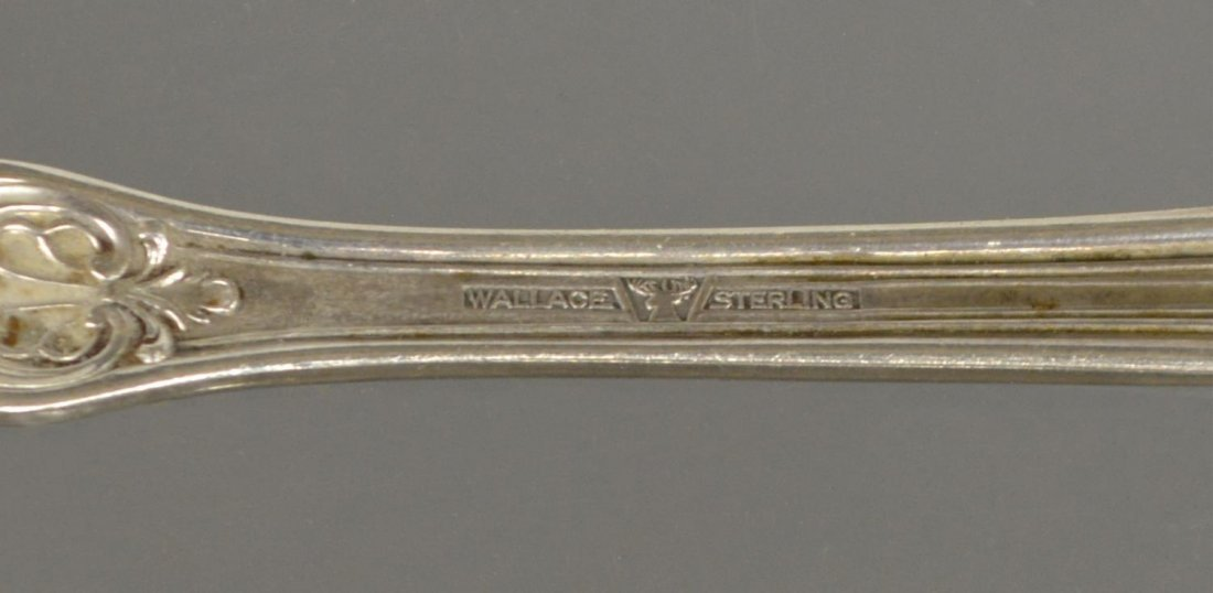 (40) SIR CHRISTOPHER STERLING FLATWARE BY WALLACE - 8