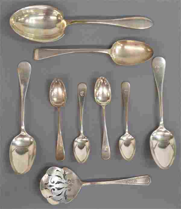 (9) COLLECTION STERLING SILVER SPOONS