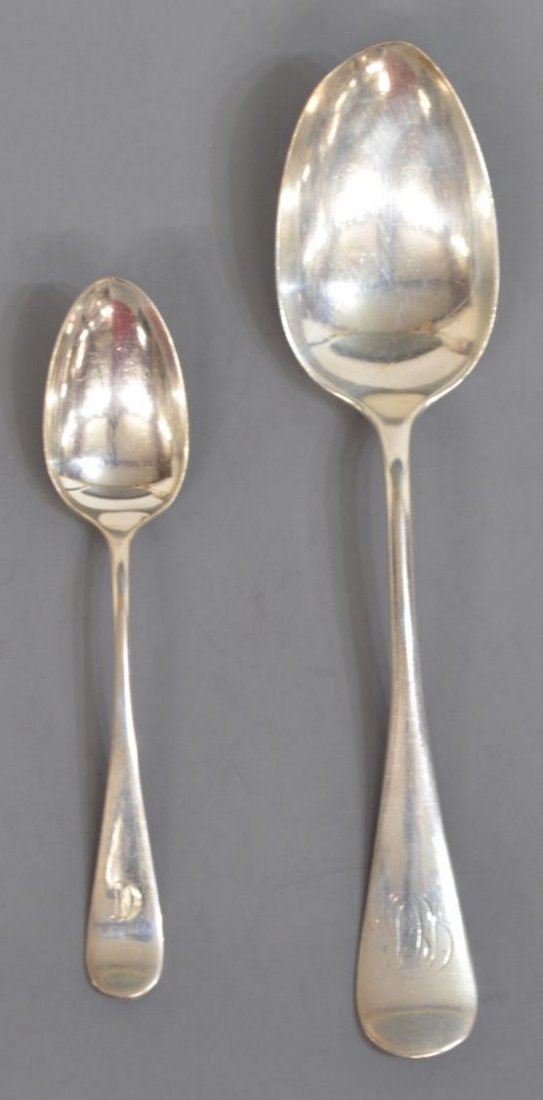 (9) COLLECTION STERLING SILVER SPOONS - 4