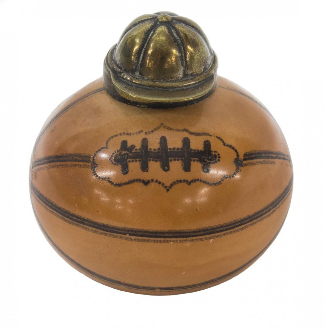 ANTIQUE ENGLISH FOOTBALL / SOCCER INKWELL