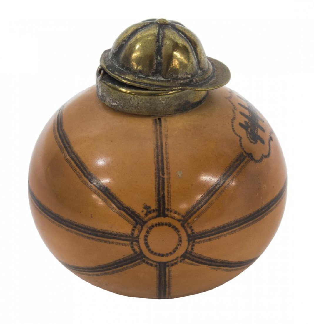 ANTIQUE ENGLISH FOOTBALL / SOCCER INKWELL - 2