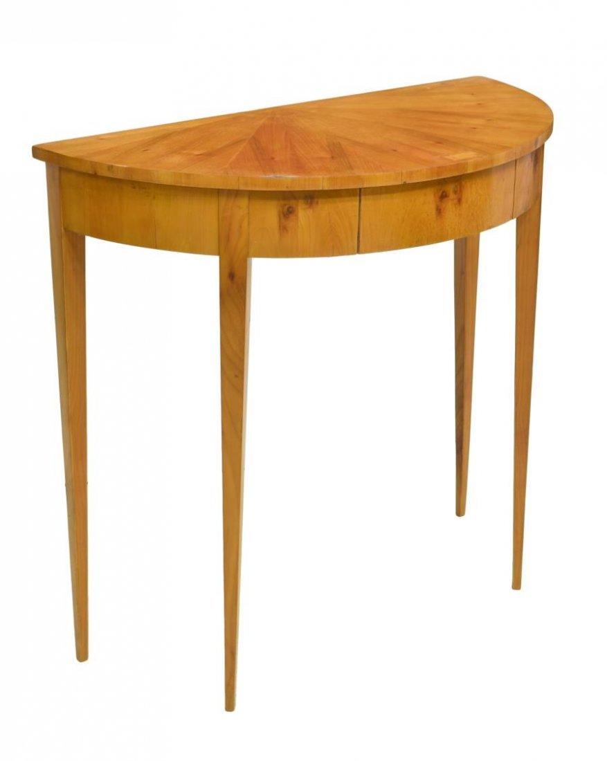 DANISH BIEDERMEIER DEMILUNE CONSOLE TABLE
