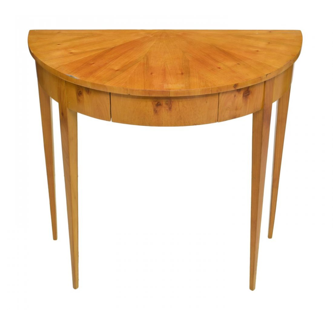 DANISH BIEDERMEIER DEMILUNE CONSOLE TABLE - 2