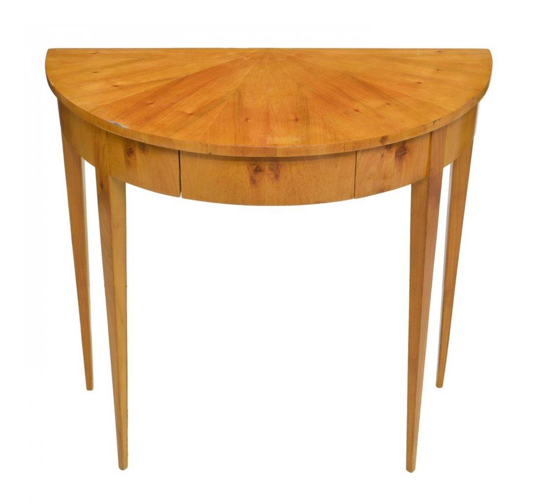 DANISH BIEDERMEIER DEMILUNE CONSOLE TABLE - 2