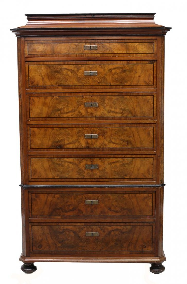 DANISH BIEDERMEIER STYLE CHEST OF DRAWERS - 2