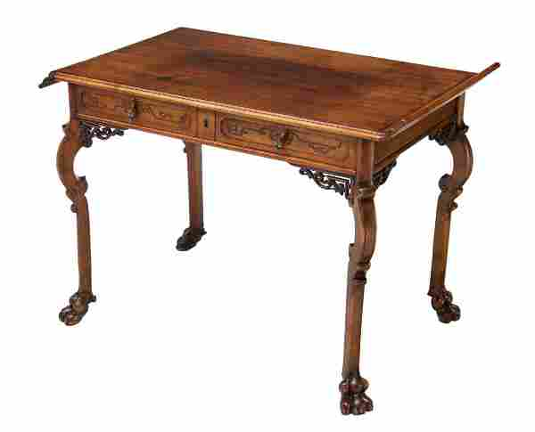 CHINESE CARVED WOOD OCCSASIONAL TABLE, 20TH C.