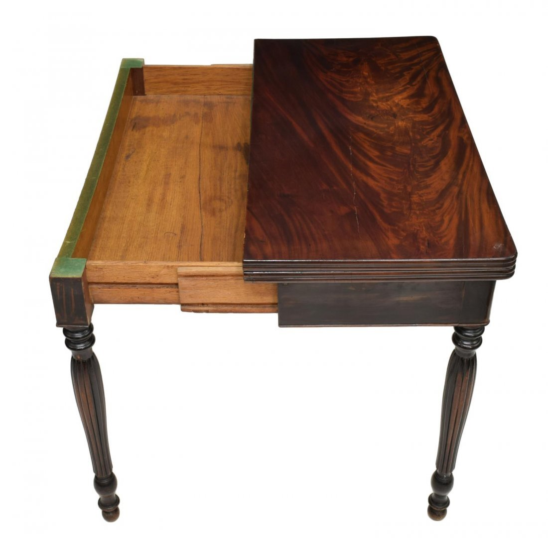 FRENCH MAHOGANY FLIP TOP GAMES TABLE, 19TH CENTURY - 3