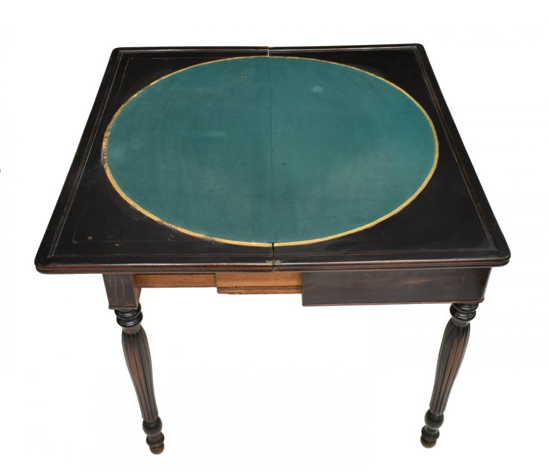 FRENCH MAHOGANY FLIP TOP GAMES TABLE, 19TH CENTURY - 4