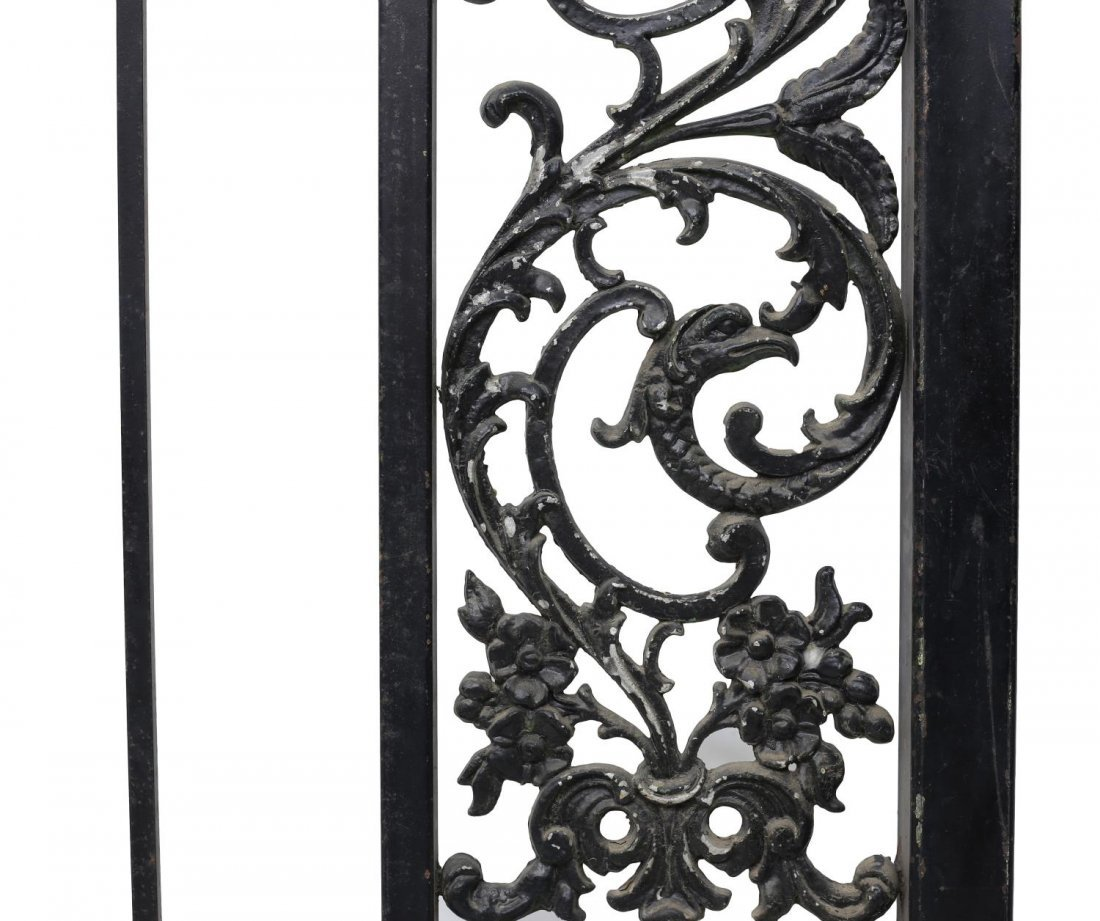 "(PAIR) LARGE IRON FRAMED GATES, 88""H x 55""W - 2"