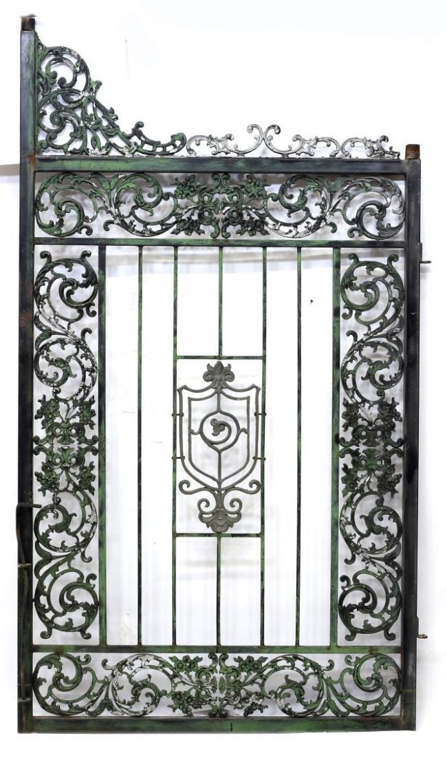 "(PAIR) LARGE IRON FRAMED GATES, 88""H x 55""W - 4"