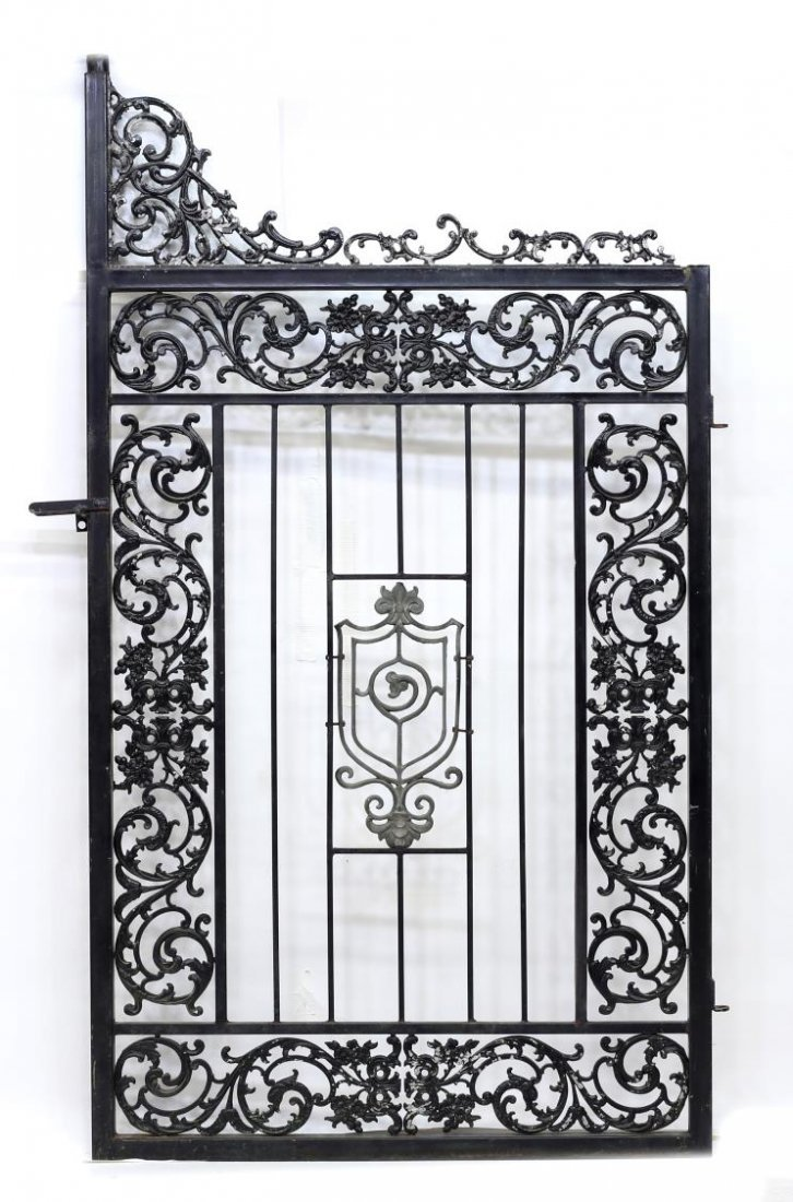 "(PAIR) LARGE IRON FRAMED GATES, 88""H x 55""W - 5"