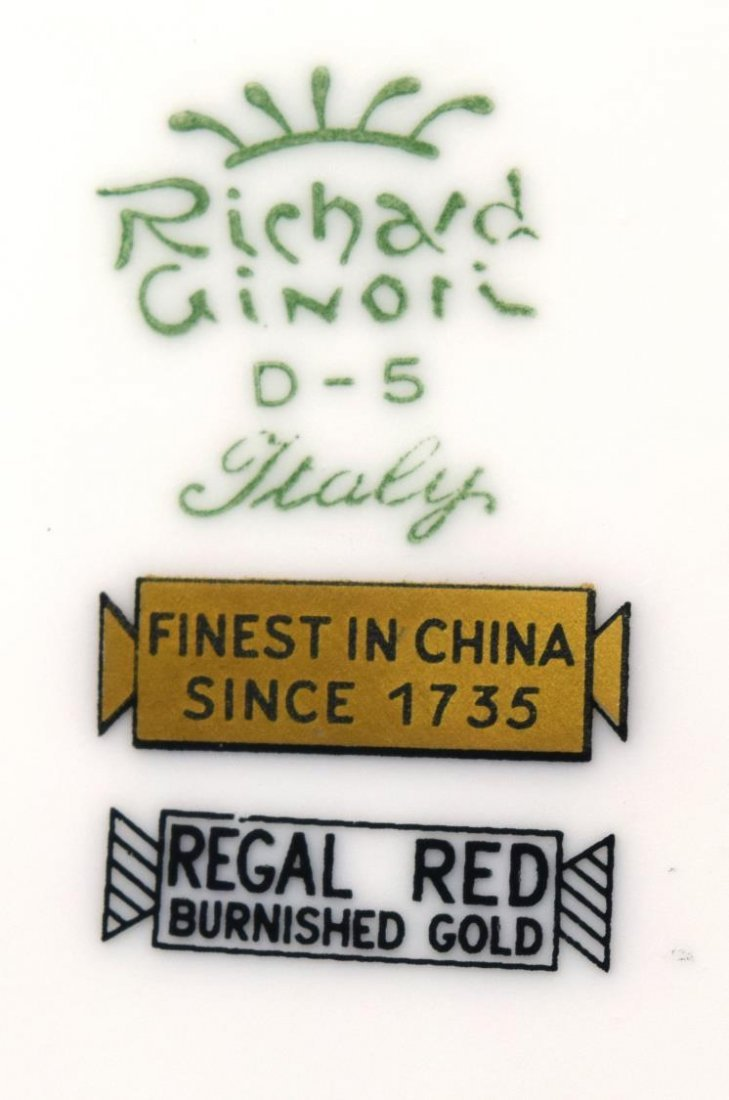 (76) ITALIAN RICHARD GINORI PORCELAIN DINNER SET - 3