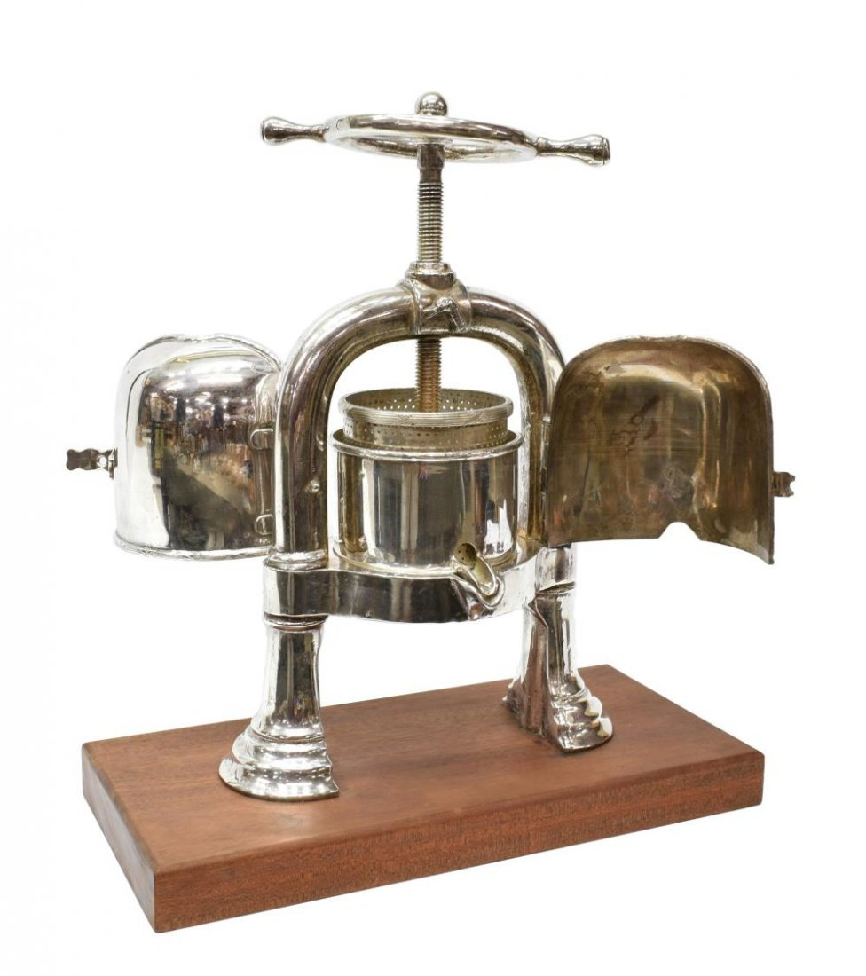 EARLY 20TH CENTURY SILVERPLATED DUCK PRESS - 7