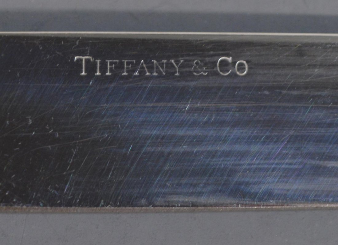 (42)TIFFANY & CO. SHELL & THREAD STERLING FLATWARE - 8