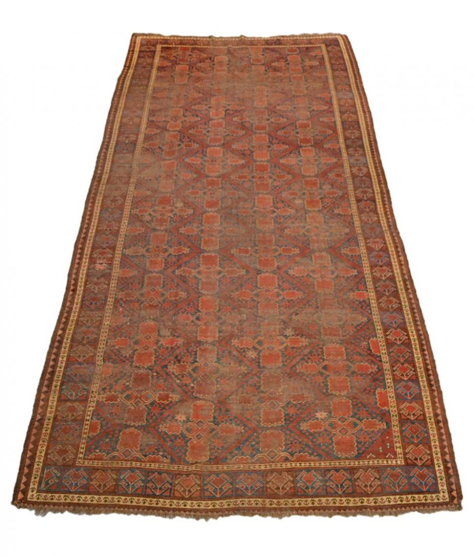 ANTIQUE PERSIAN BASHIR RUG, C. 1875