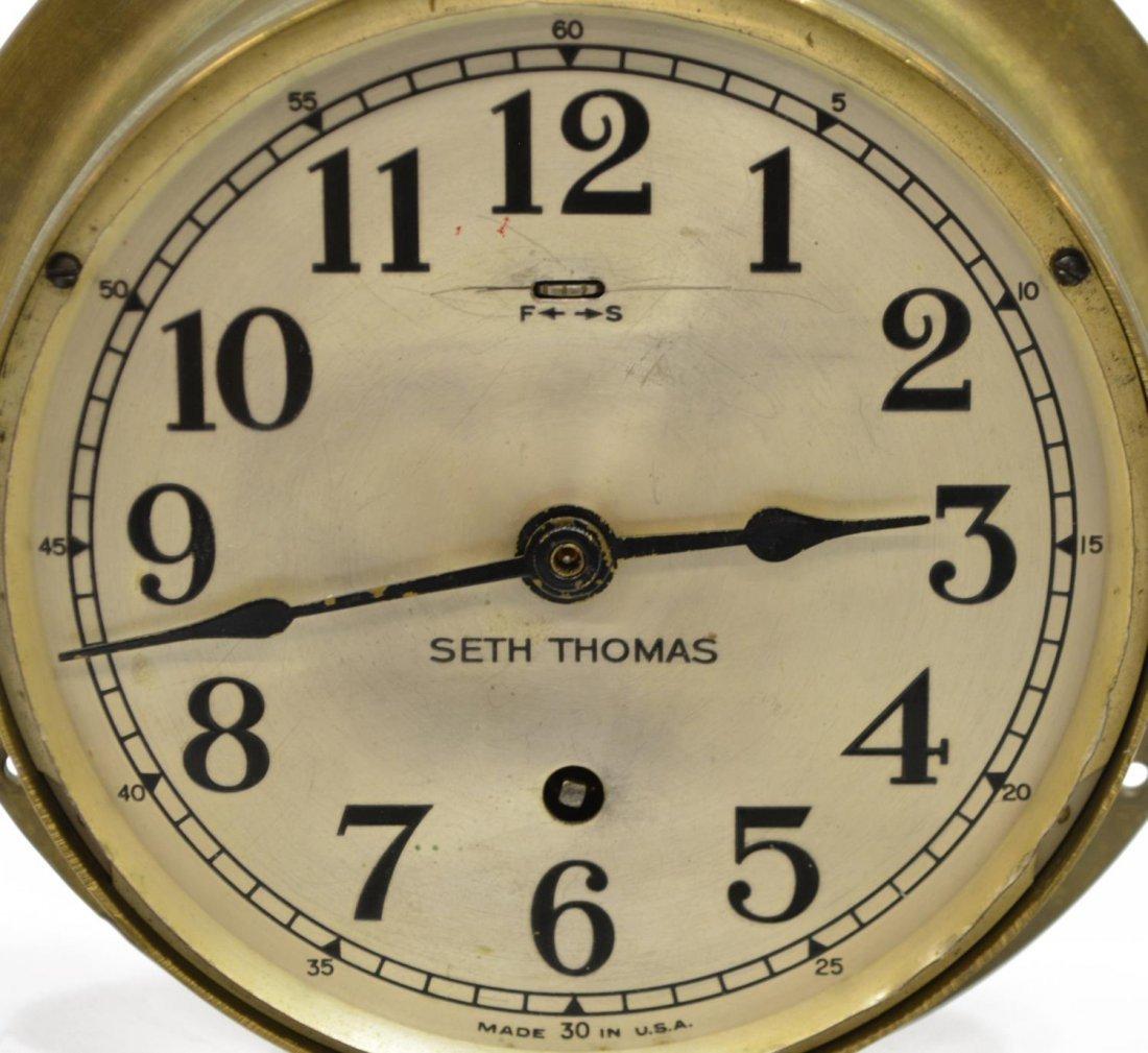 SETH THOMAS MARITIME BRASS SHIPS CLOCK - 3