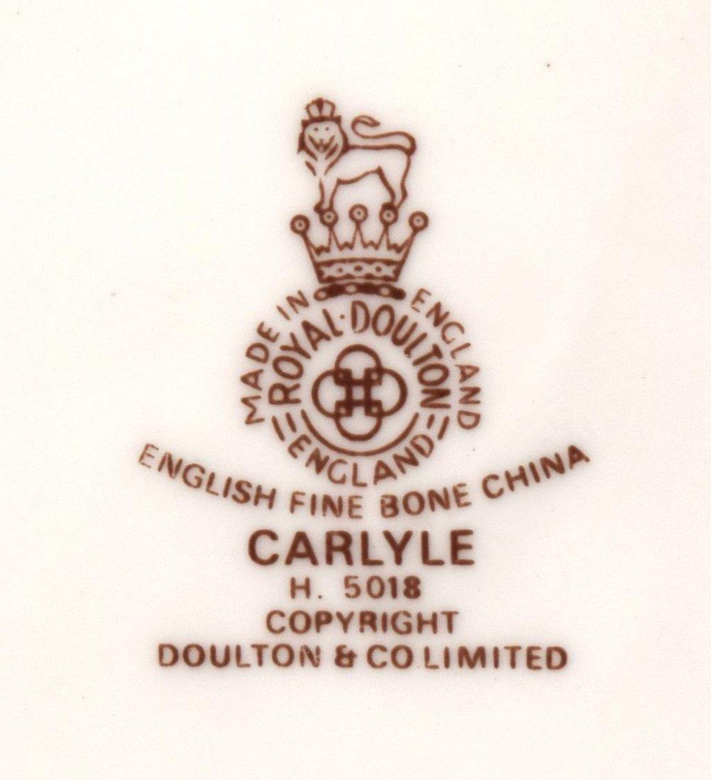 (65) ROYAL DOULTON 'CARLYLE' BONE CHINA DINNERWARE - 7