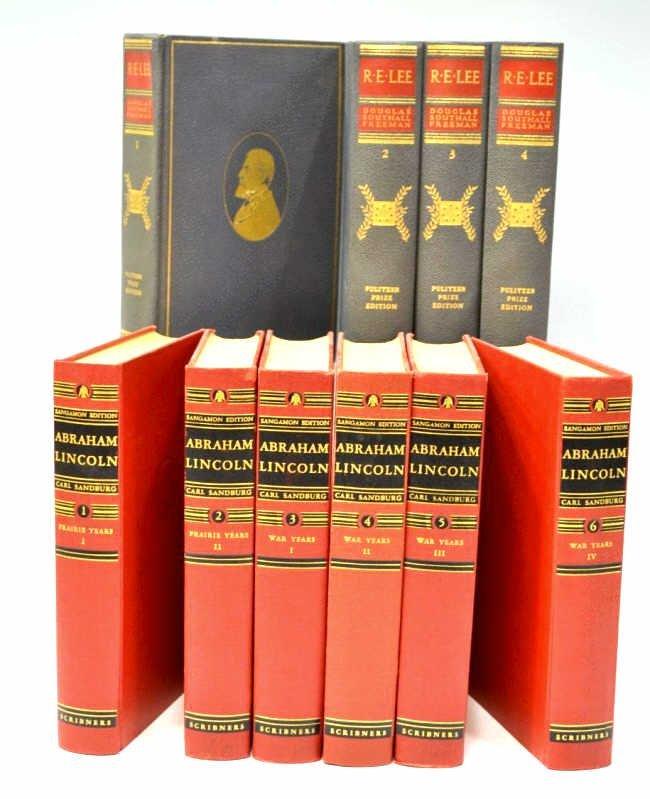 (10) BOOKS: R.E. LEE & ABRAHAM LINCOLN