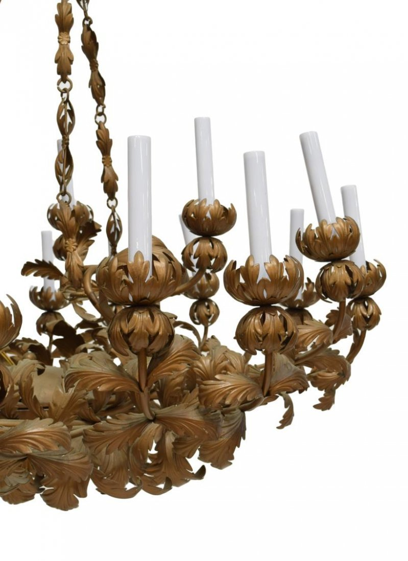 ORNANTE GILT METAL ACANTHUS 20-LIGHT CHANDELIER - 2