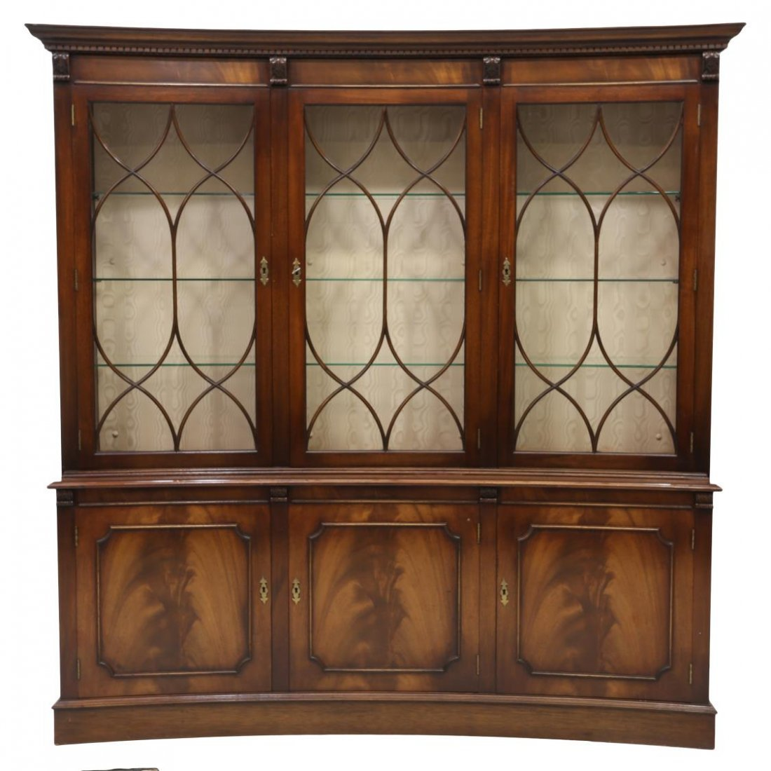 ENGLISH BEVAN FUNNELL MAHOGANY CONCAVE CABINET - 2