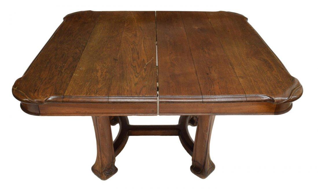FRENCH NANCY SCHOOL ART NOUVEAU OAK TABLE C. 1900 - 2
