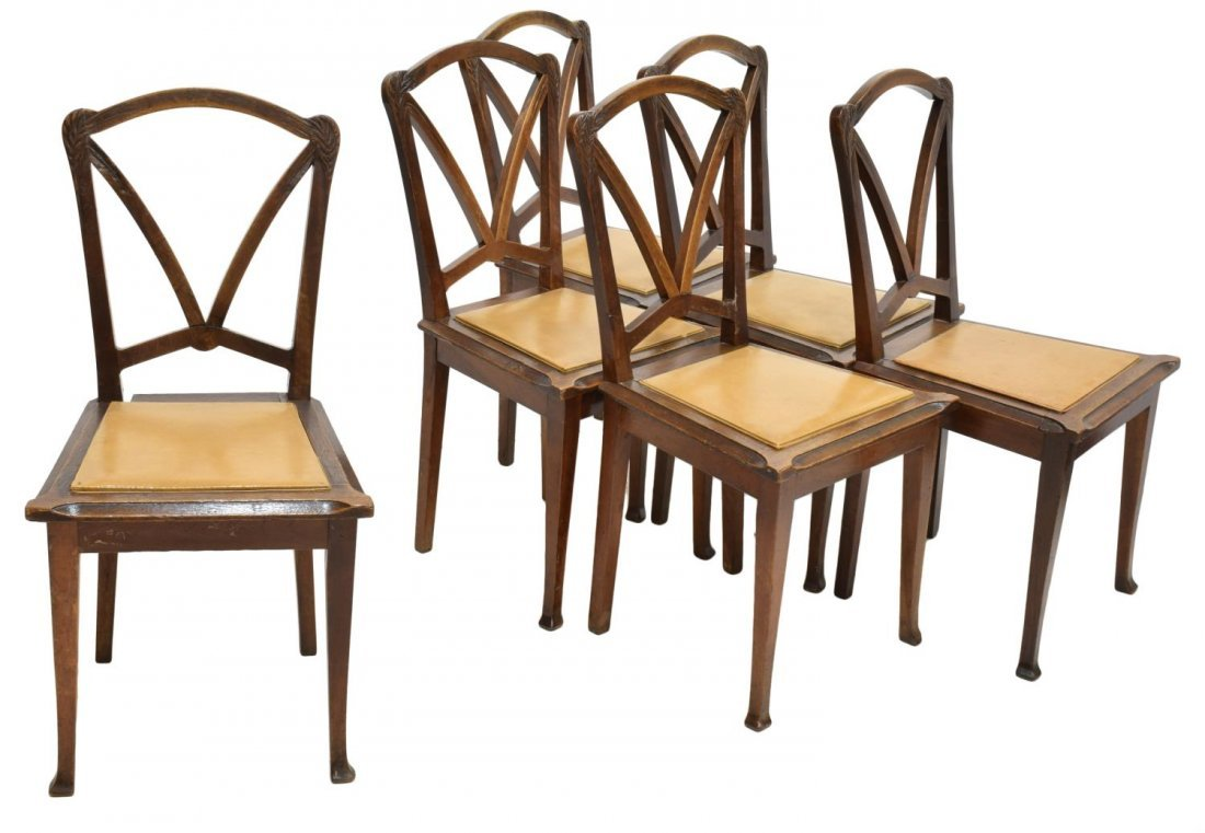 COLLECTIBLE NOUVEAU CHAIRS, NANCY FRANCE, C. 1900