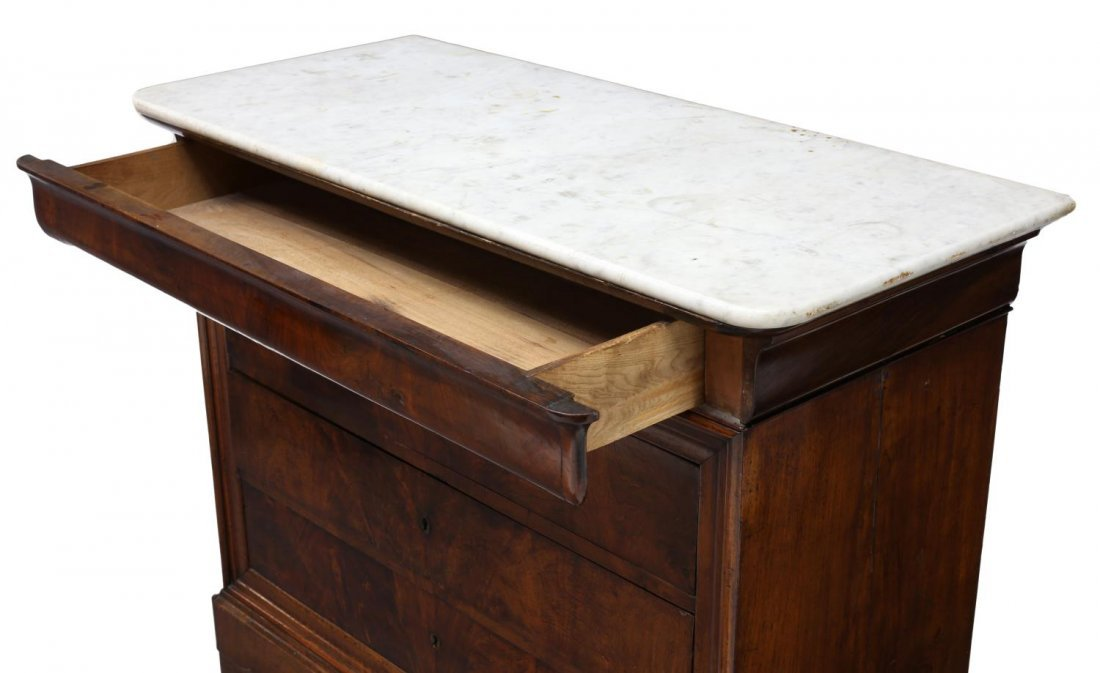 FRENCH CHARLES X MARBLE TOP COMMODE, 19TH C. - 3