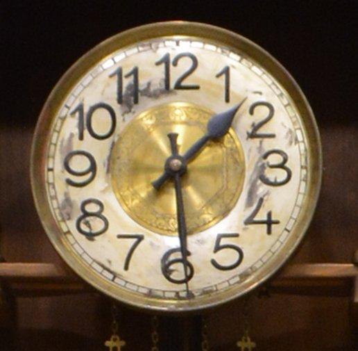 GERMAN OAK CASED GRANDFATHER CLOCK - 4