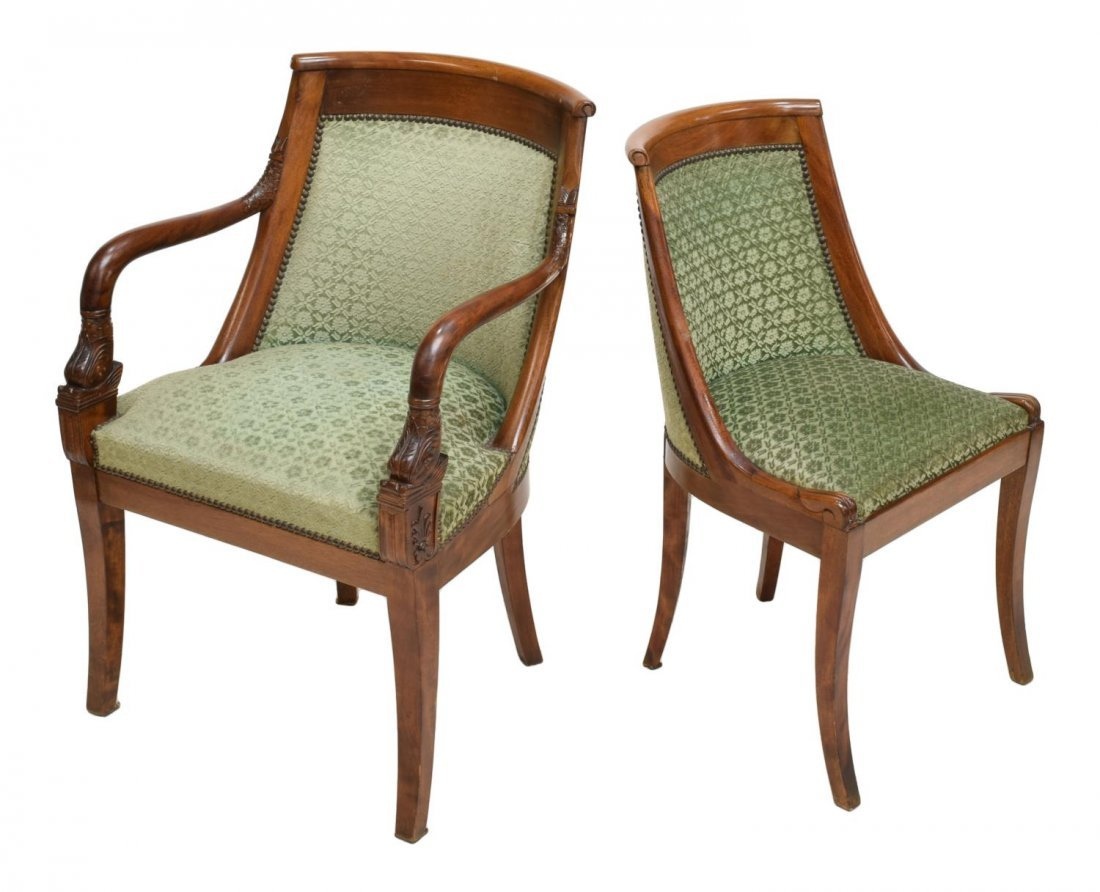 (8) FRENCH EMPIRE STYLE DINING CHAIRS EARLY 20TH C - 2