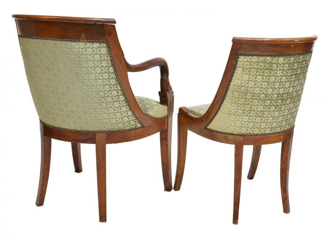 (8) FRENCH EMPIRE STYLE DINING CHAIRS EARLY 20TH C - 3