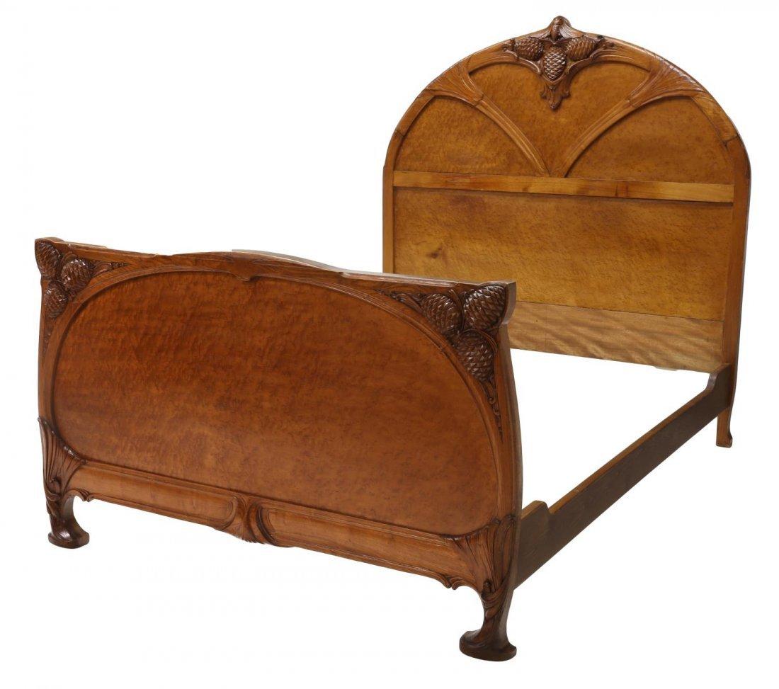 COLLECTIBLE NOUVEAU BED, NANCY FRANCE, C. 1900