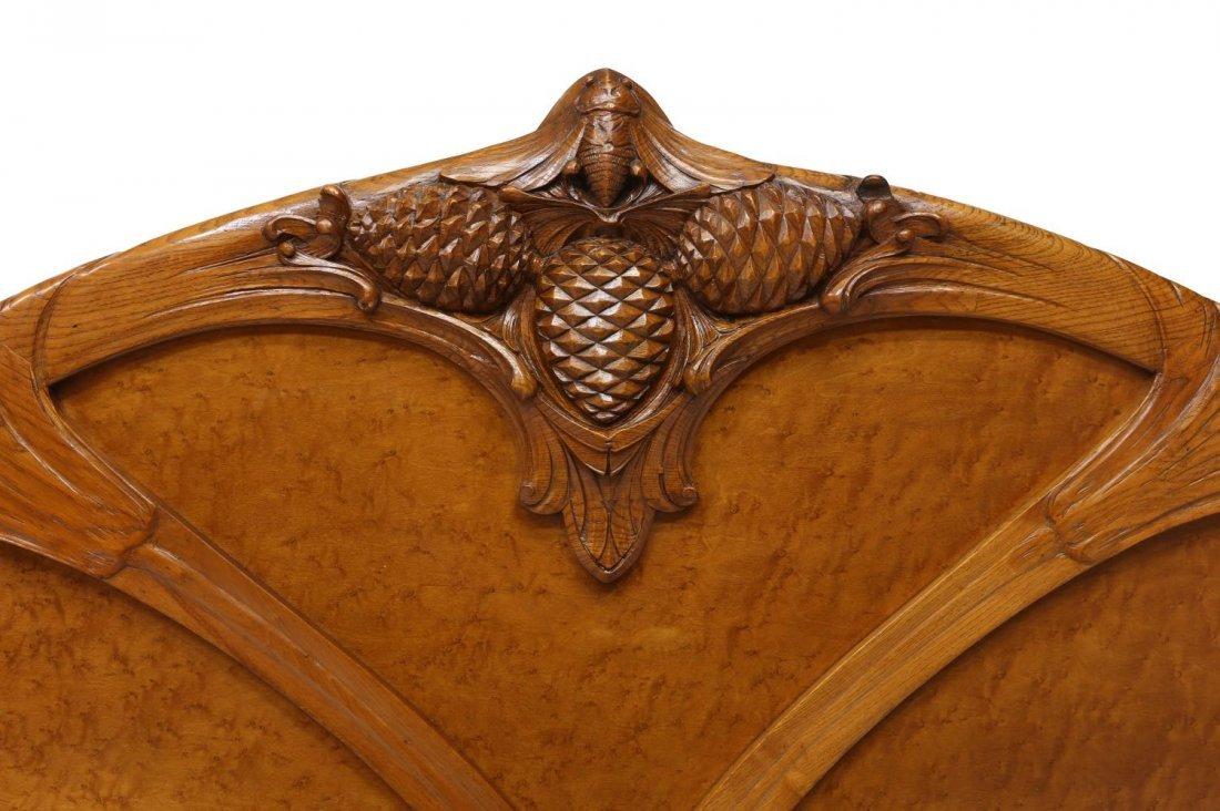 COLLECTIBLE NOUVEAU BED, NANCY FRANCE, C. 1900 - 2