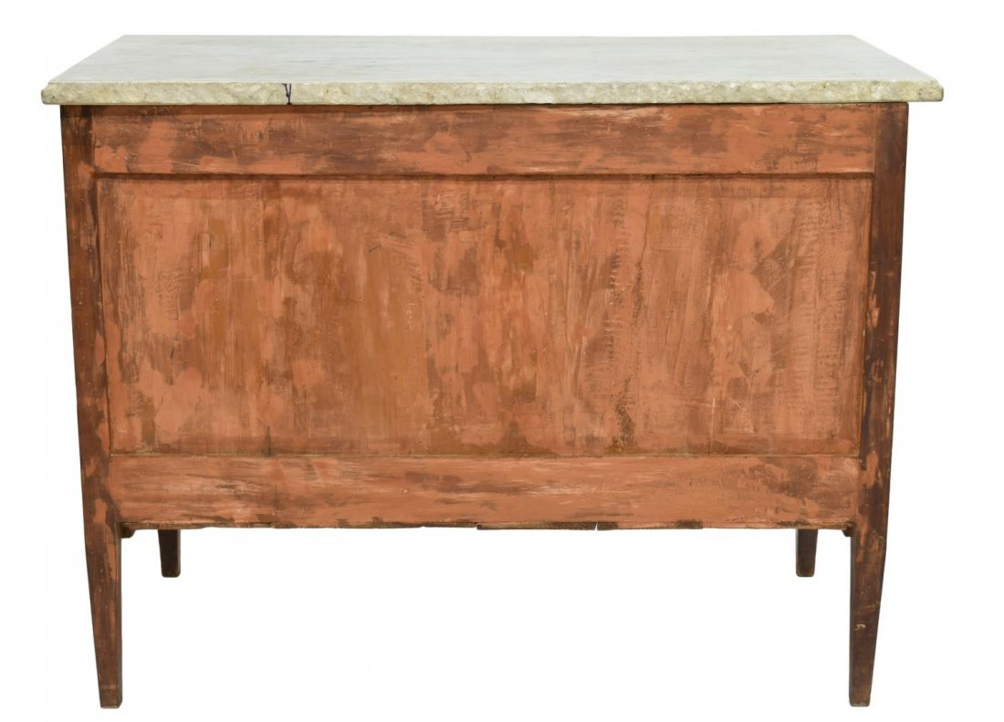 FRENCH MARBLE TOP MAHOGANY COMMODE, 18TH/19TH C - 4