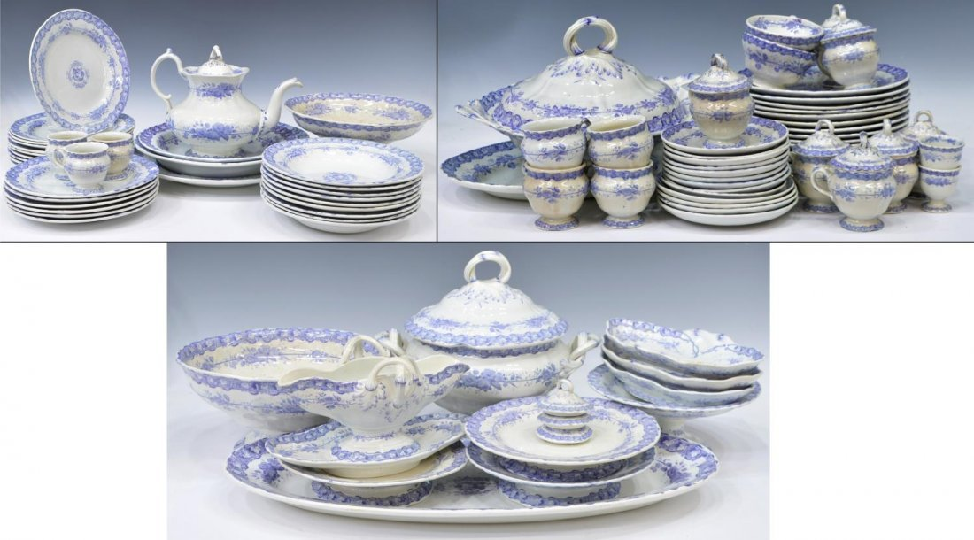 (92) COUNTRY FRENCH CERAMIC DINNER SERVICE