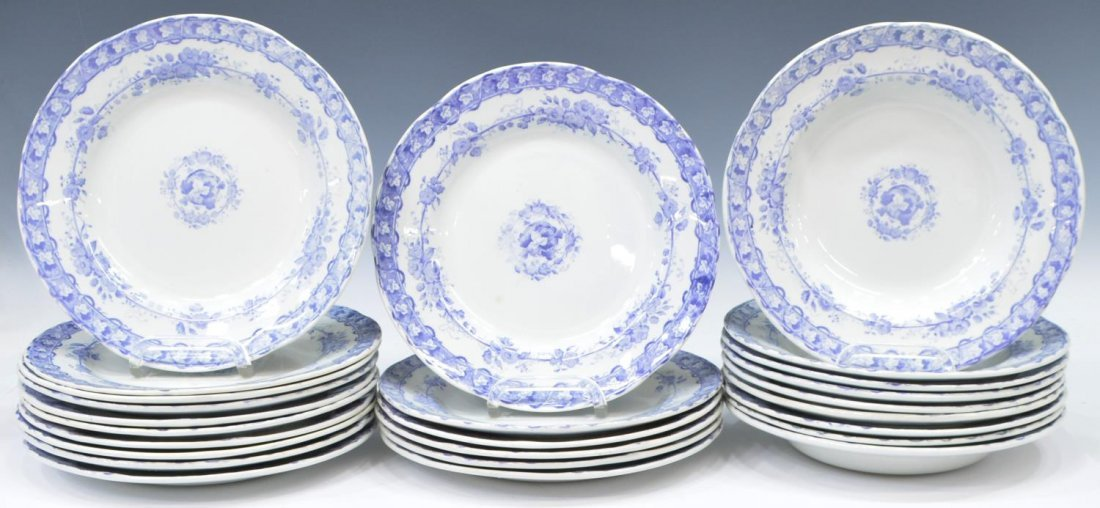 (92) COUNTRY FRENCH CERAMIC DINNER SERVICE - 2