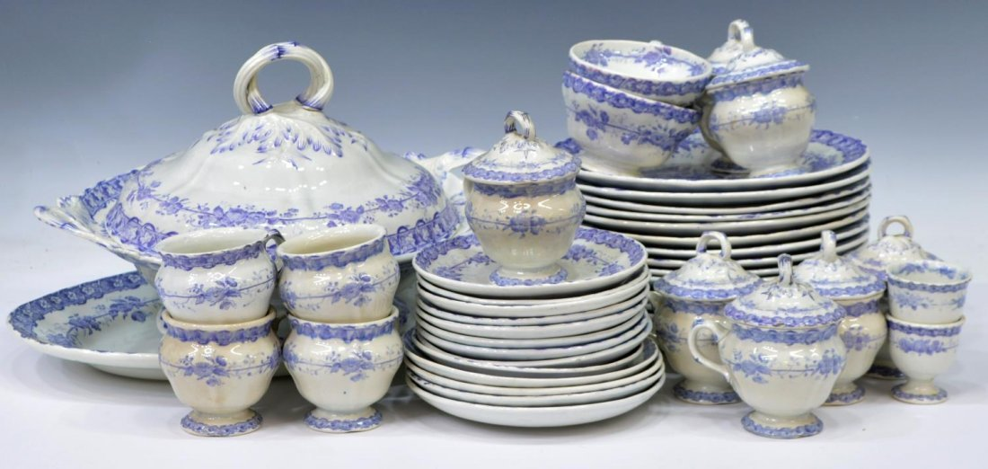 (92) COUNTRY FRENCH CERAMIC DINNER SERVICE - 6