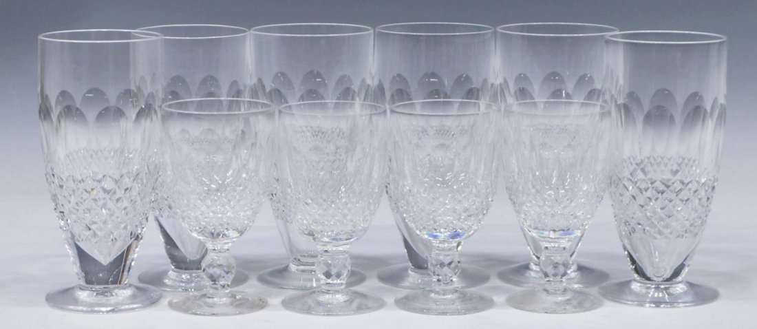 (10) WATERFORD COLLEEN CRYSTAL GLASSES & STEMWARE
