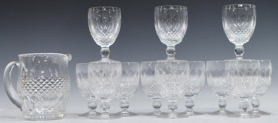 (13) WATERFORD COLLEEN CRYSTAL STEMWARE GOBLETS
