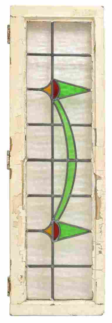 (1) ENGLISH FRAMED STAINED GLASS WINDOWS