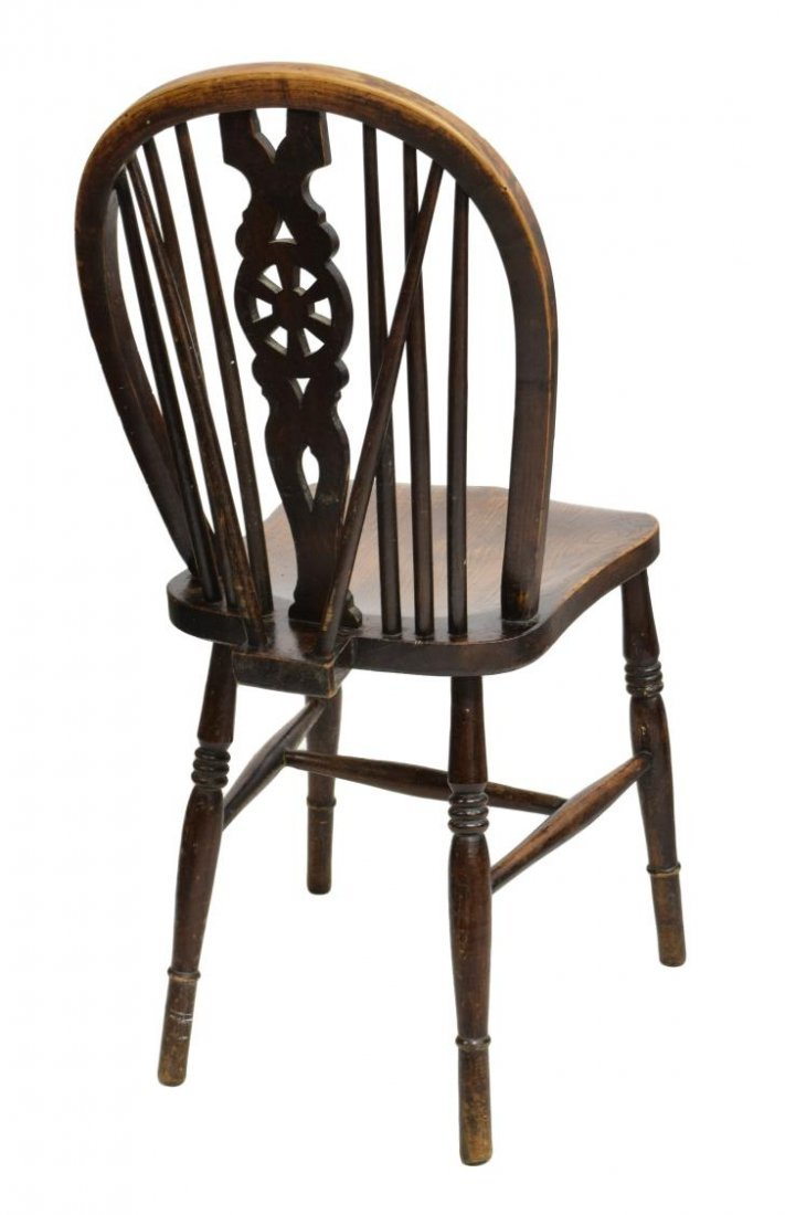 (8) ANTIQUE ENGLISH WHEEL BACK WINDSOR CHAIRS - 3