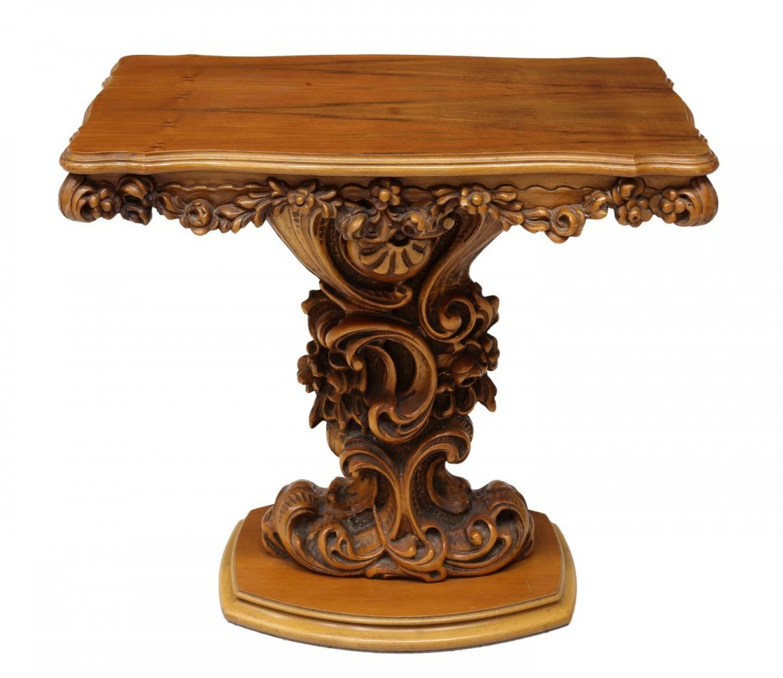 LOUIS XV STYLE HEAVILY CARVED CONSOLE TABLE 20TH C - 2