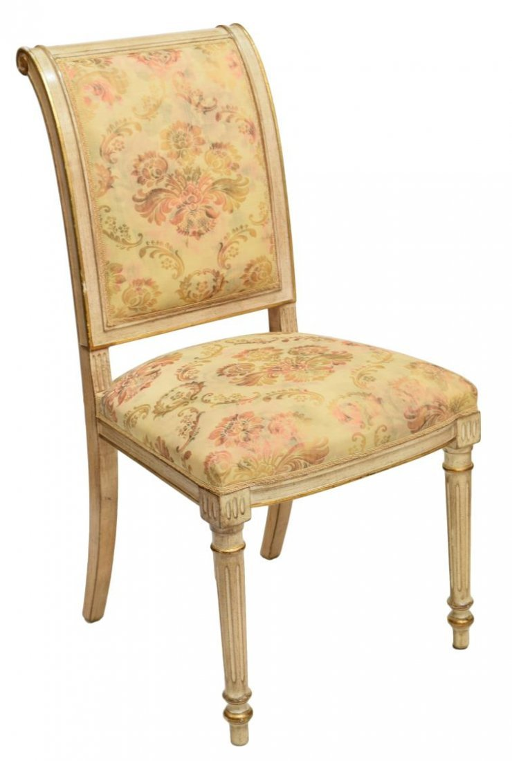 (6) FRENCH LOUIS XVI STYLE PAINTED SIDECHAIRS - 2