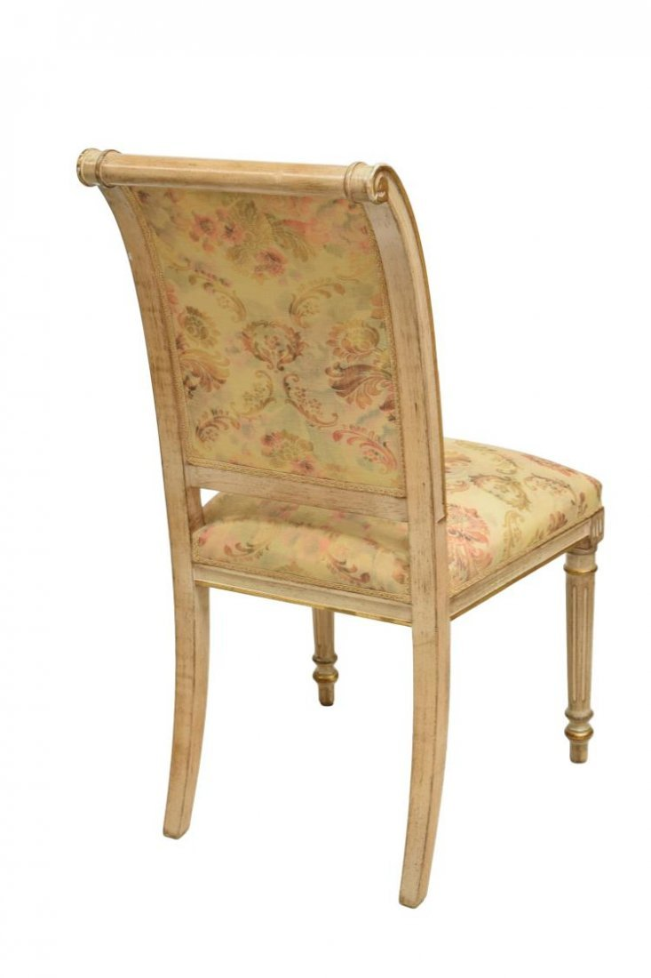 (6) FRENCH LOUIS XVI STYLE PAINTED SIDECHAIRS - 3