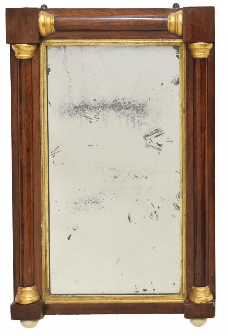 FRENCH EMPIRE STYLE HANGING WALL MIRROR, 20TH C - 2